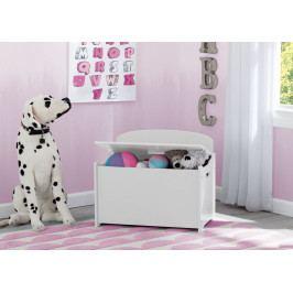 Forclaire Dřevěná truhla na hračky - bílá