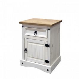 Idea Noční stolek CORONA bílý vosk 16345B