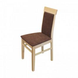 Idea Jídelní židle OLI buk/tmavě hnědá