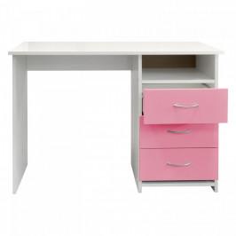Idea Psací stůl 44 růžová/bílá