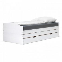 Idea Rozkládací postel FENIX bílý lak