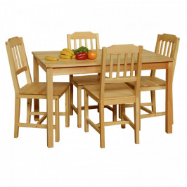 Idea Stůl + 4 židle 8849 lak
