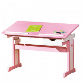 Idea CECILIA psací stůl růžovo/bílý