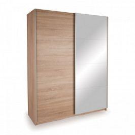 Idea Skříň s posuvnými dveřmi DECOR 150 dub/zrcadlo