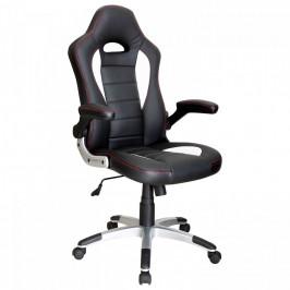 Idea Kancelářské křeslo RACER černá/bílá