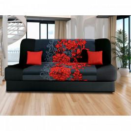 Idea Pohovka VICTORIA červené květy