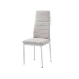 Tempo Kondela Židle, béžová látka / bílý kov, COLETA NOVA