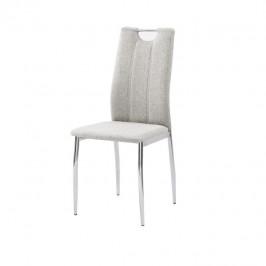 Tempo Kondela Jídelní židle OLIVA NEW - béžový melír / chrom