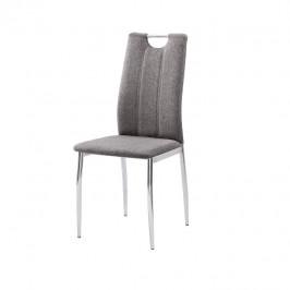 Tempo Kondela Jídelní židle OLIVA NEW - hnědošedá látka / chrom