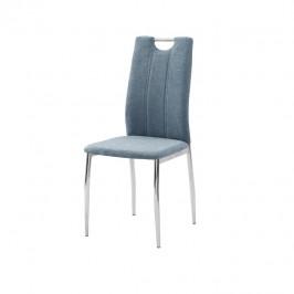 Tempo Kondela Jídelní židle OLIVA NEW - azurová látka / chrom