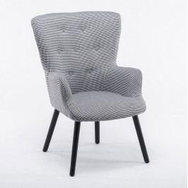 Tempo Kondela Designové křeslo BRANDO - látka drobný vzor, černé nohy