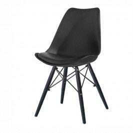 Tempo Kondela Židle KEMAL - černá / dřevo