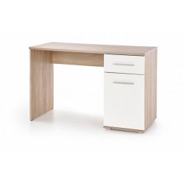 Halmar Psací stůl Lima B-1, dub sonoma / bílý