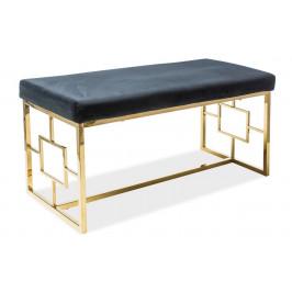 Casarredo Čalouněná lavice NOIR černá/zlatá