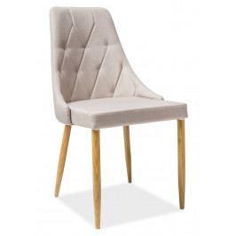 Casarredo Jídelní čalouněná židle TRIX II béžová/dub