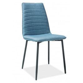 Casarredo Jídelní čalouněná židle TOMAS modrá denim