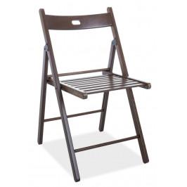 Casarredo Dřevěná skládací židle SMART II tmavý ořech
