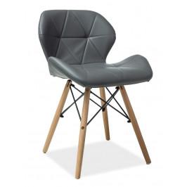 Casarredo Jídelní židle MATIAS šedá ekokůže