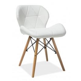 Casarredo Jídelní židle MATIAS bílá ekokůže