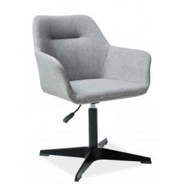 Casarredo Čalouněná židle KUBO šedá