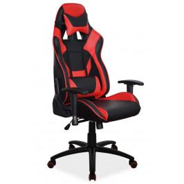 Casarredo Kancelářské křeslo SUPRA červená/černá
