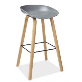 Casarredo Barová židle STING buk/šedá