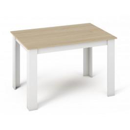 Casarredo Jídelní stůl KONGO 120x80 sonoma/bílá