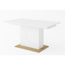 Casarredo Rozkládací jídelní stůl WAVE bílá/dub riviera