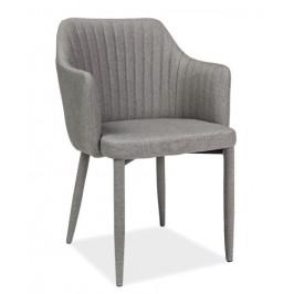 Casarredo Jídelní čalouněná židle WELTON světle šedá