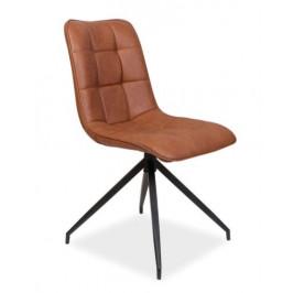 Casarredo Jídelní čalouněná židle OLAF hnědá