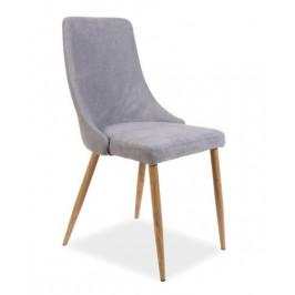 Casarredo Jídelní čalouněná židle NOBEL šedá