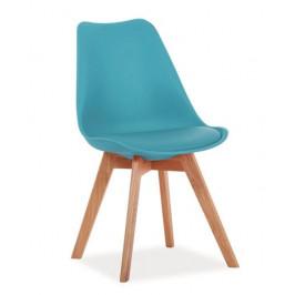 Casarredo Jídelní židle KRIS modrá/buk