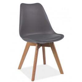 Casarredo Jídelní židle KRIS šedá/buk