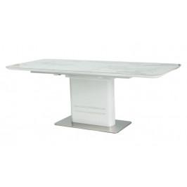 Casarredo Jídelní stůl CARTIER rozkládací bílý/mramor