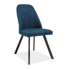 Casarredo Jídelní čalouněná židle PABLO tmavě modrá