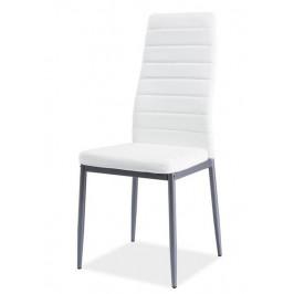 Casarredo Jídelní čalouněná židle H-261 Bis bílá/alu