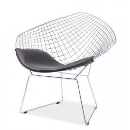Casarredo Židle/křeslo REMO chrom/černá