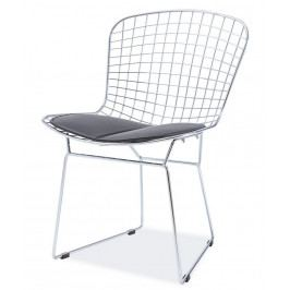 Casarredo Jídelní židle FINO chrom/černá