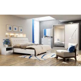 Casarredo Ložnice PALERMO (postel 160, skříň, komoda, 2 noční stolky)