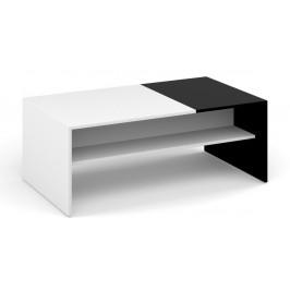 Casarredo Konferenční stolek MONACO bílá/černá