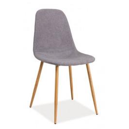 Casarredo Jídelní čalouněná židle FOX šedá