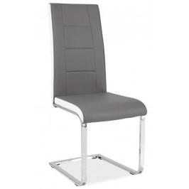 Casarredo Jídelní čalouněná židle H-629 šedá/bílé boky