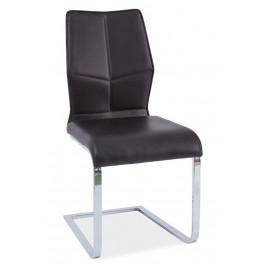Casarredo Jídelní čalouněná židle H-422 černá/bílý lak