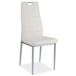 Casarredo Jídelní čalouněná židle H-260 bílá/chrom