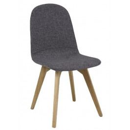 Casarredo Jídelní čalouněná židle ARES šedá/dub