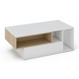 Casarredo Konferenční stolek MILANO bílá/sonoma