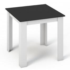 Casarredo Jídelní stůl KONGO 80x80 bílá/černá