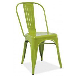 Casarredo Jídelní kovová židle LOFT zelená