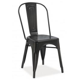 Casarredo Jídelní kovová židle LOFT černá mat