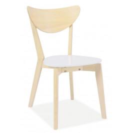 Casarredo Jídelní židle CD-19 bílá/dub
